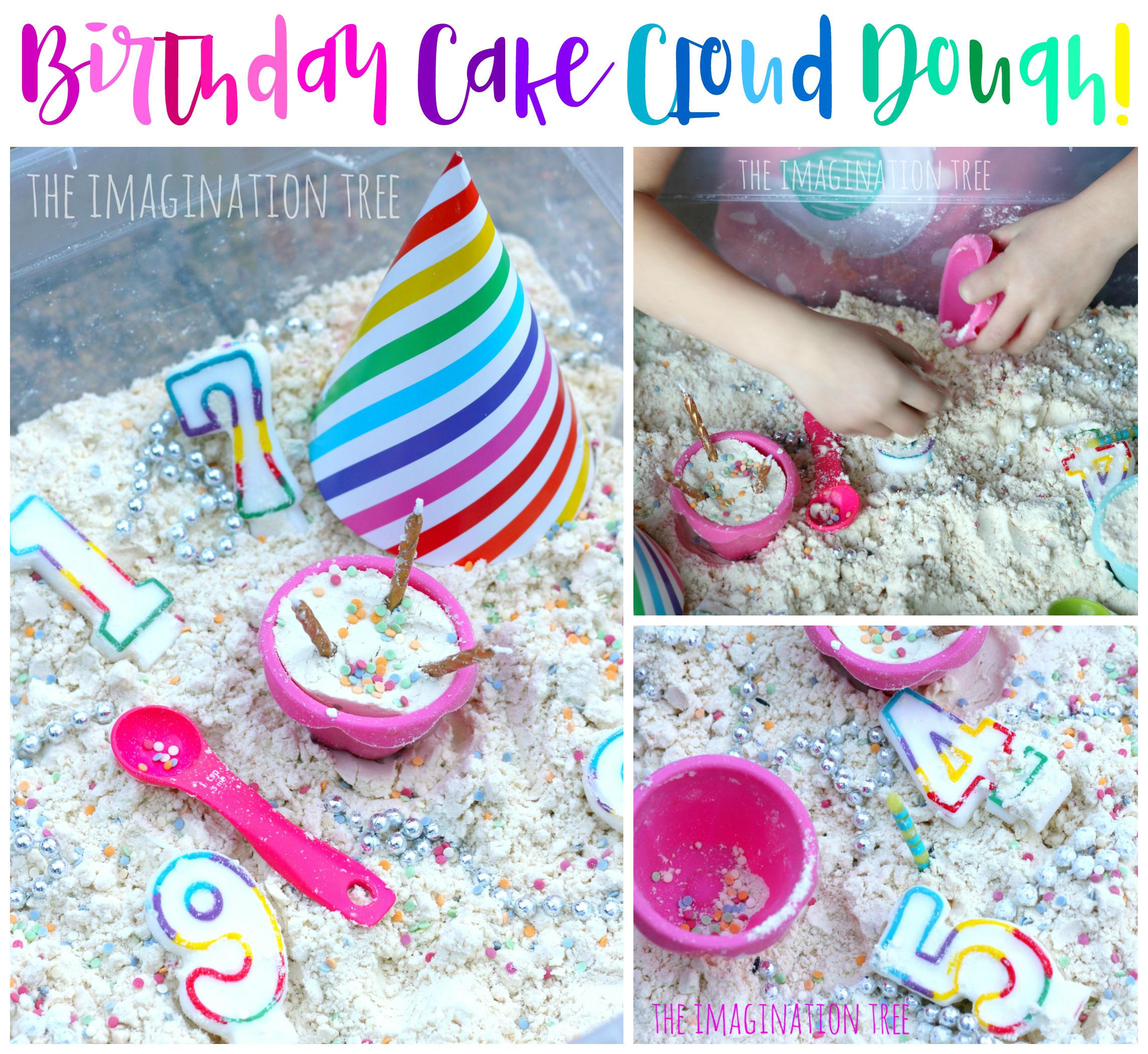 Birthday Cake Cloud Dough The Imagination Tree