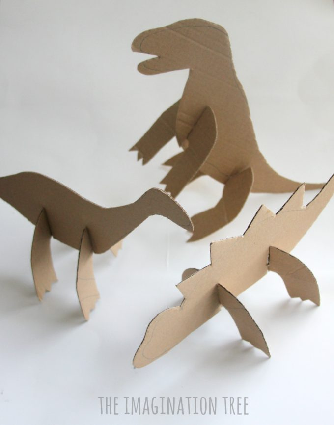 Cardboard Dinosaur Craft For Kids The Imagination Tree