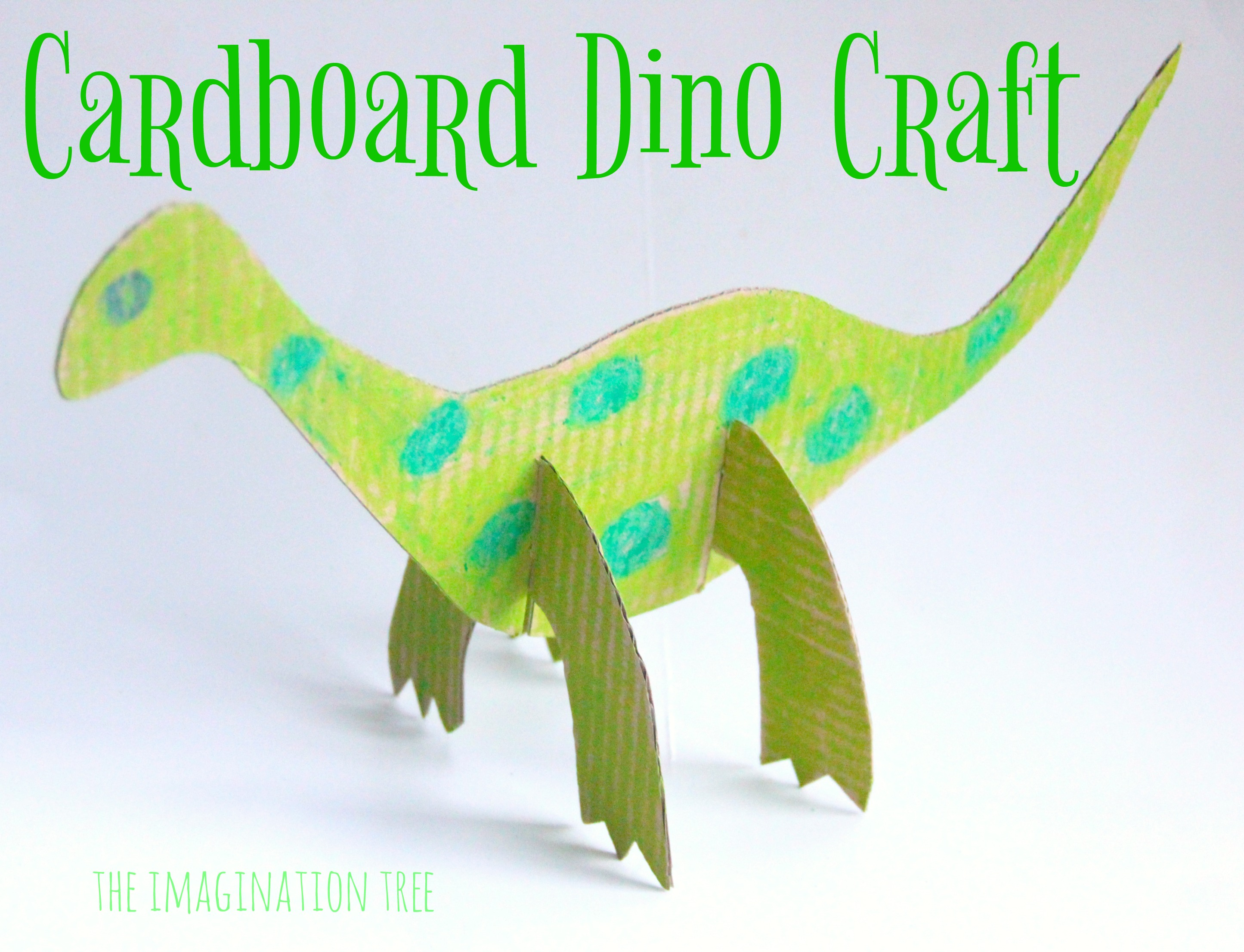 Dinosaur arts and crafts - Cardboard Dinosaur Craft For Kids