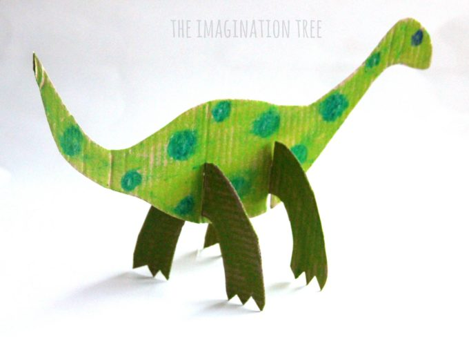 Cardboard dinosaur craft for kids the imagination tree for Dinosaur crafts for toddlers