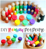 DIY Rainbow Peg People & Toadstools