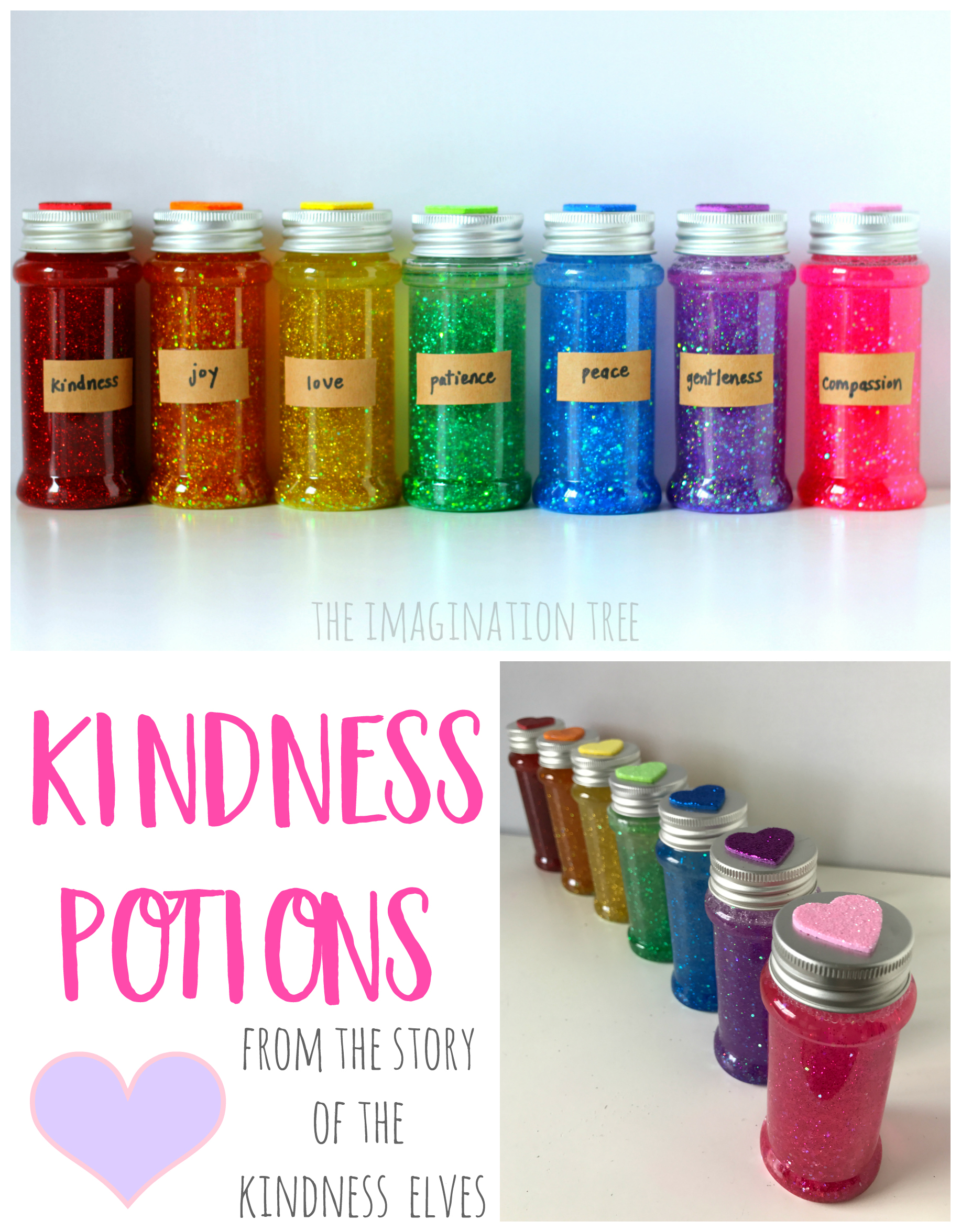 Kindness Potions Sensory Bottles The Imagination Tree