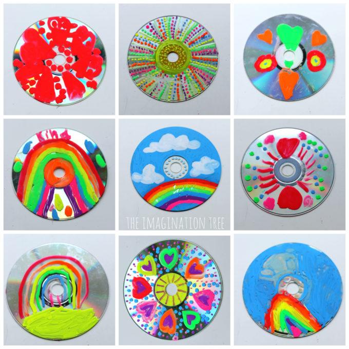 Chalk Marker and CD Art