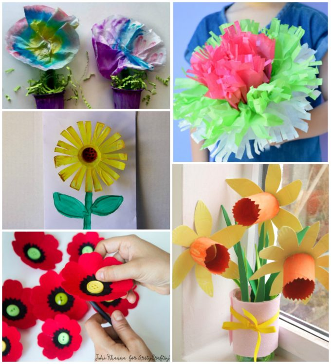 Craft Flowers For Kids Part - 36: Recycled Plastic Flowers From Left Brain Craft Brain