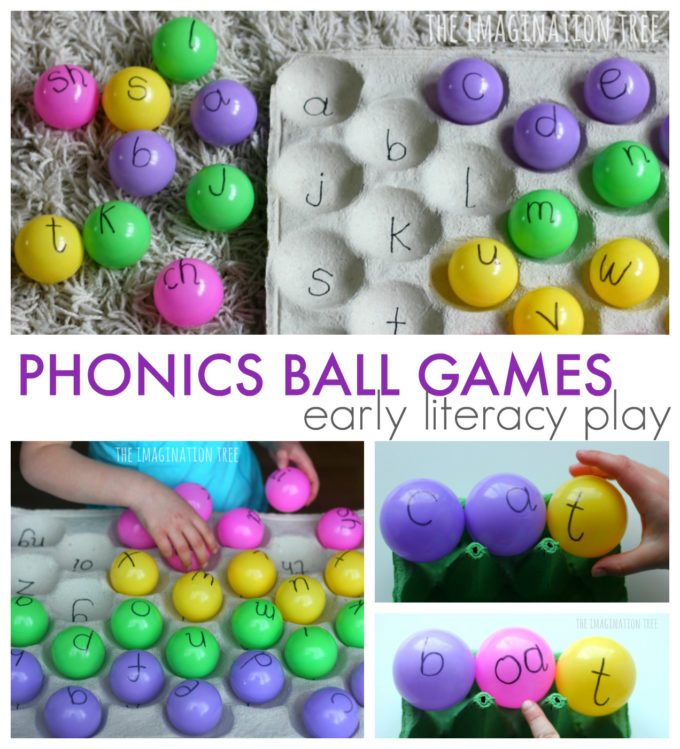 Phonics Ball Games for Preschoolers