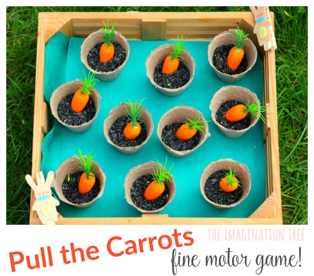 Eat The Carrots Fine Motor Skills Game The Imagination Tree