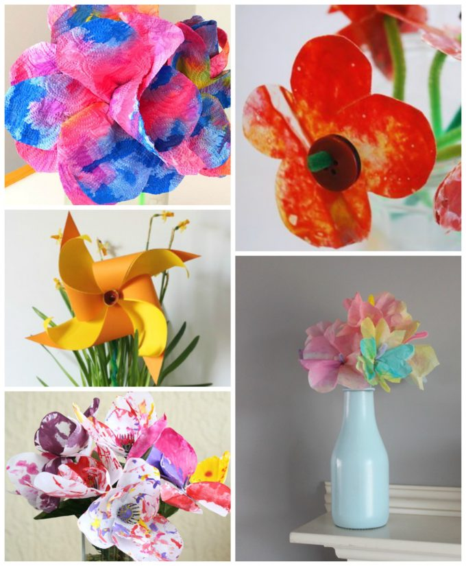 20 flower crafts for kids the imagination tree here are 20 flower crafts for kids mightylinksfo Choice Image