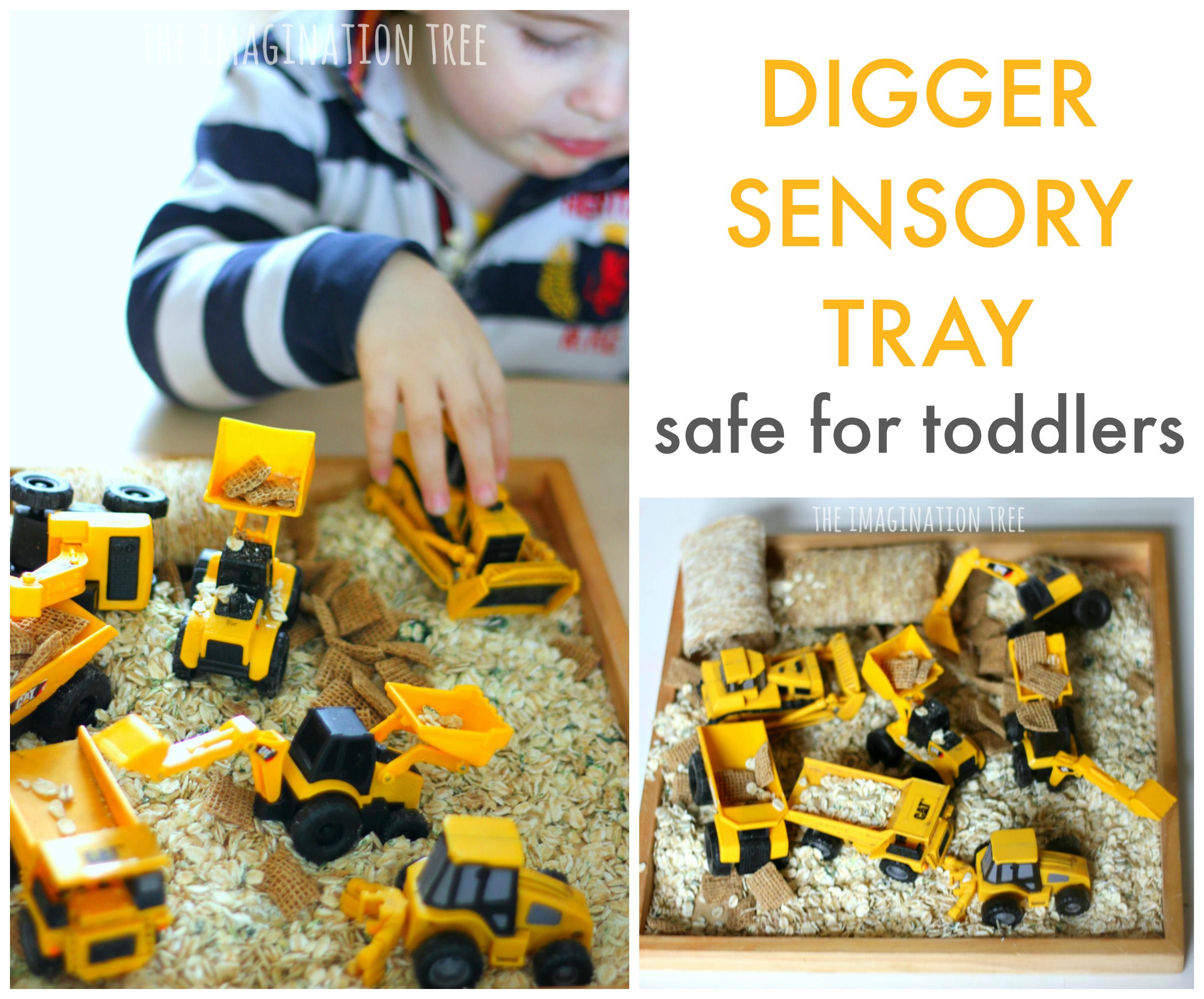 Taste Safe Digger Sensory Bin For Toddlers The