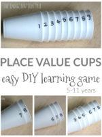 DIY Place Value Cups