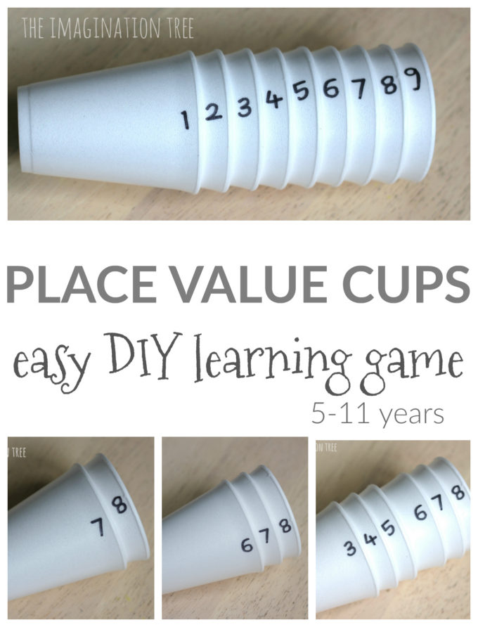DIY Place Value Cups