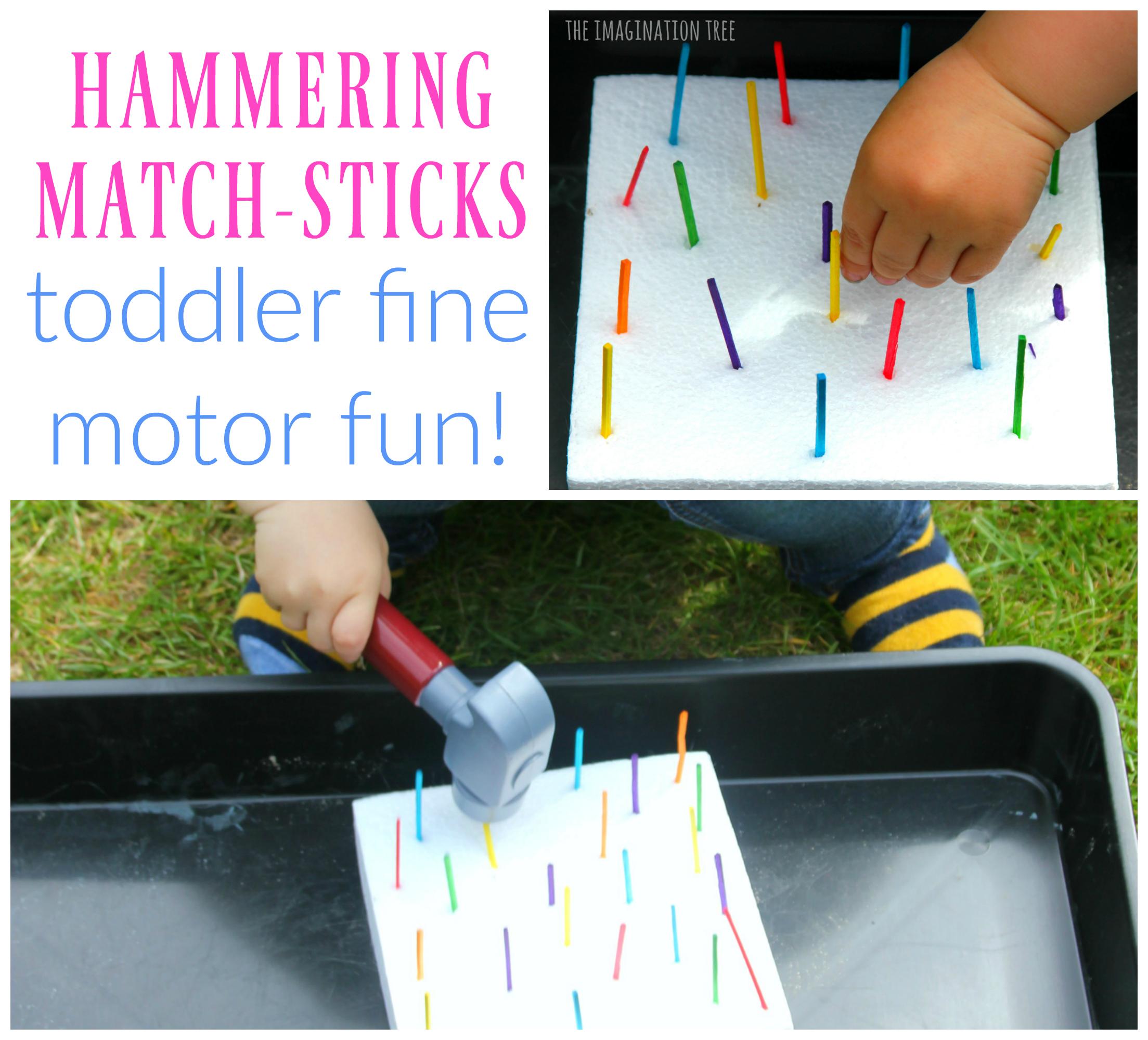 Hammering Match Sticks Toddler Fine