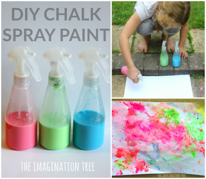 DIY Chalk Spray Paint Recipe