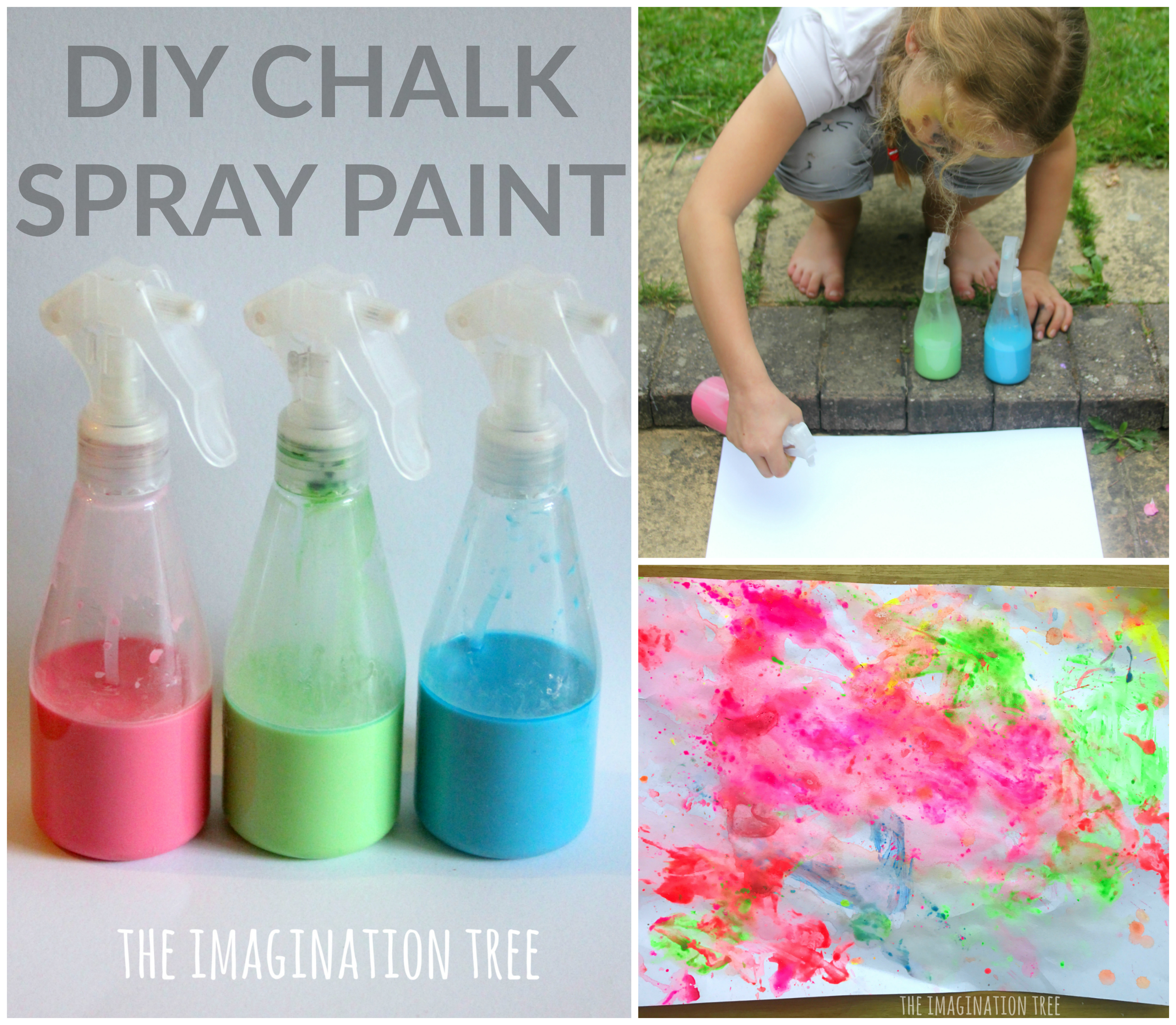 Diy Chalk Spray Paint Recipe The Imagination Tree
