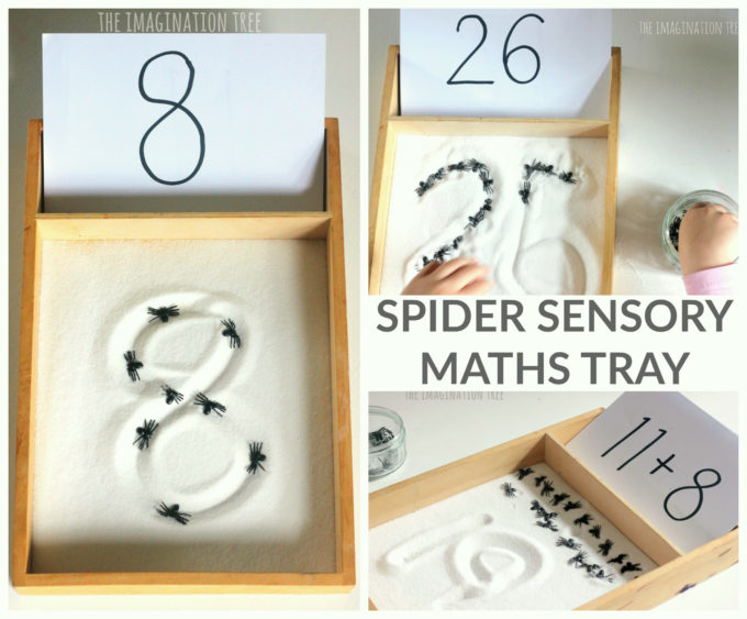 Counting Spiders Sensory Maths Tray