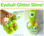 Eyeball Glitter Slime Recipe!