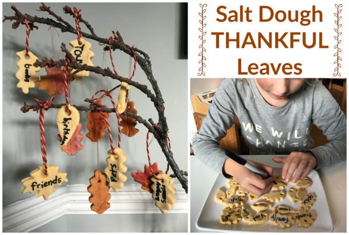 DIY Salt Dough Thankful Leaves