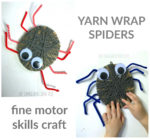 Yarn Wrap Spider Craft