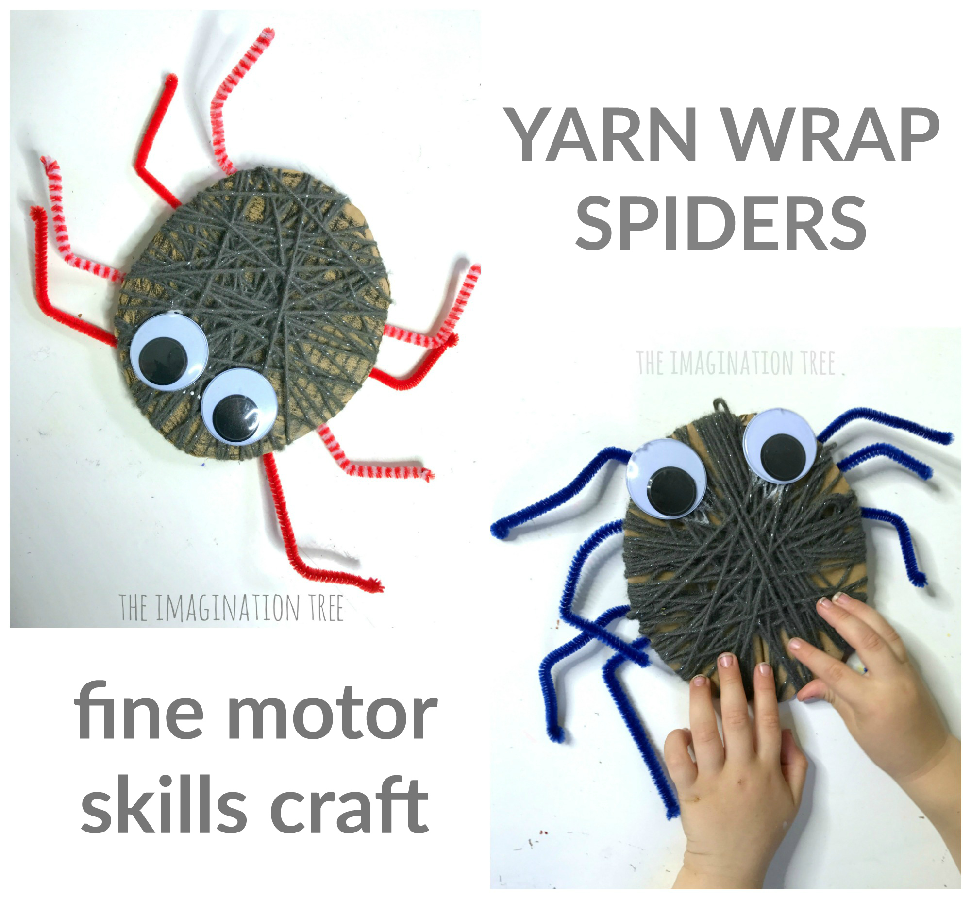 Yarn Wrap Spider Craft The Imagination Tree