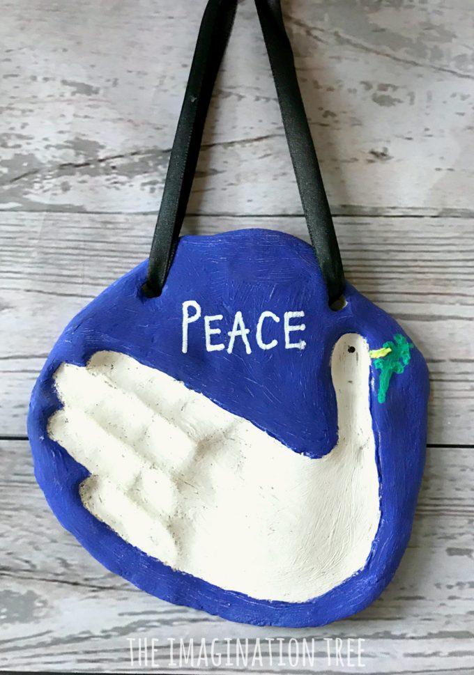 How to make a dove salt dough hand print keepsake!