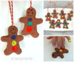 Finger Print Gingerbread Men Ornaments