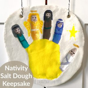 Nativity salt dough hand print keepsake for kids!