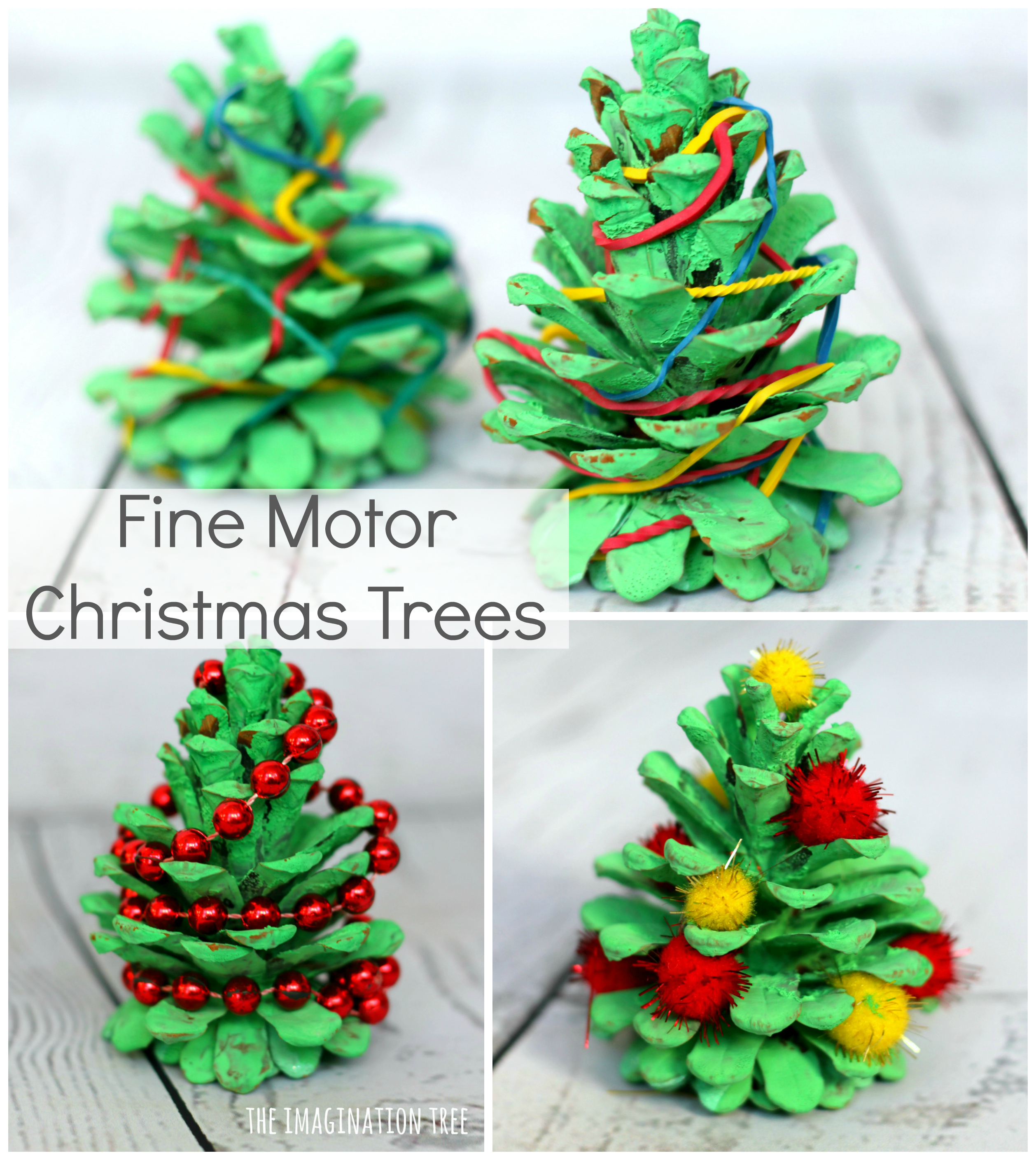 pine cone christmas tree fine motor activities the. Black Bedroom Furniture Sets. Home Design Ideas