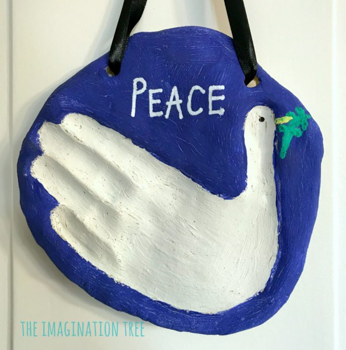 Peace Dove Salt Dough Handprint Keepsake