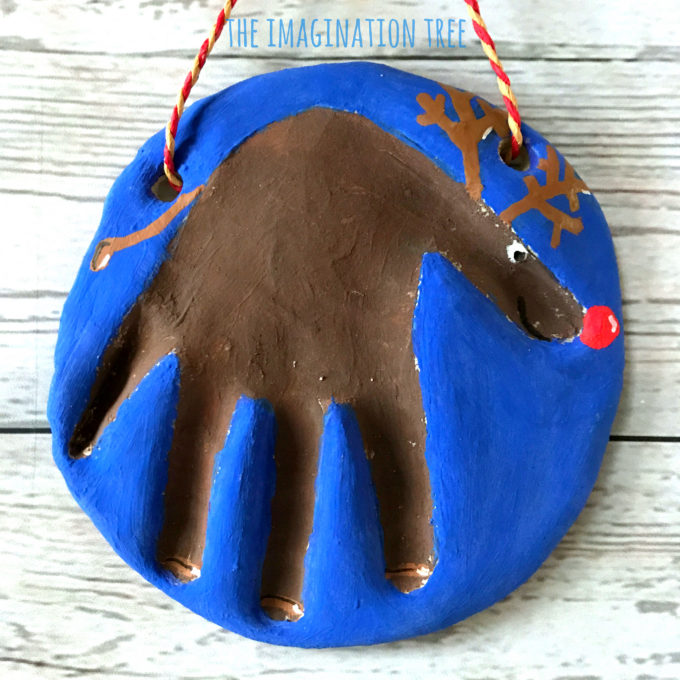Rudolph Salt Dough Handprint Keepsake for kids!