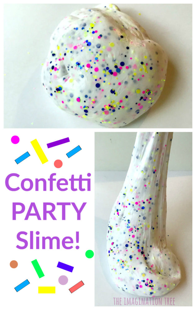 Confetti Party Slime Recipe The Imagination Tree