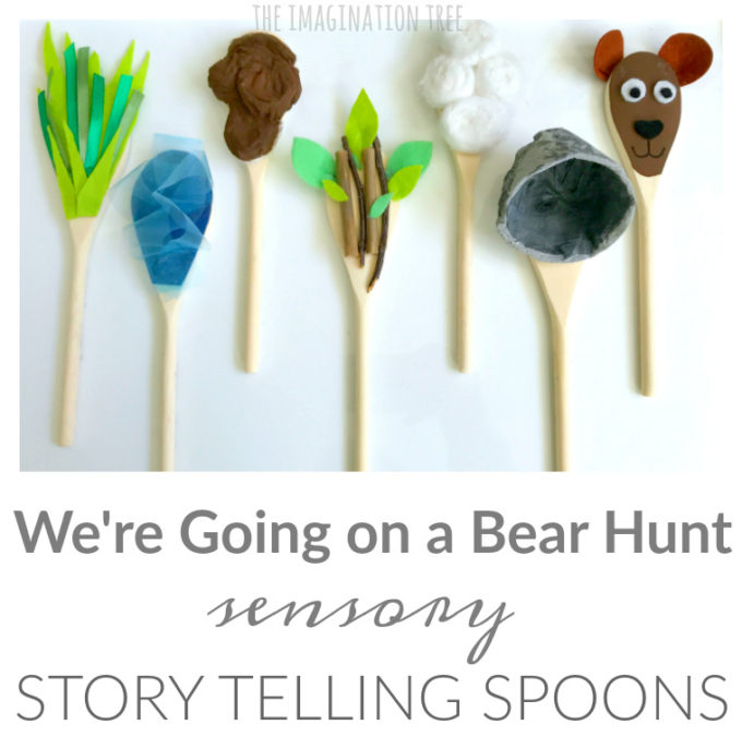 Sensory Storytelling Spoons for We're Going on a Bear Hunt!