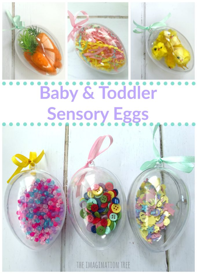 Easter Sensory Eggs for babies and toddlers!