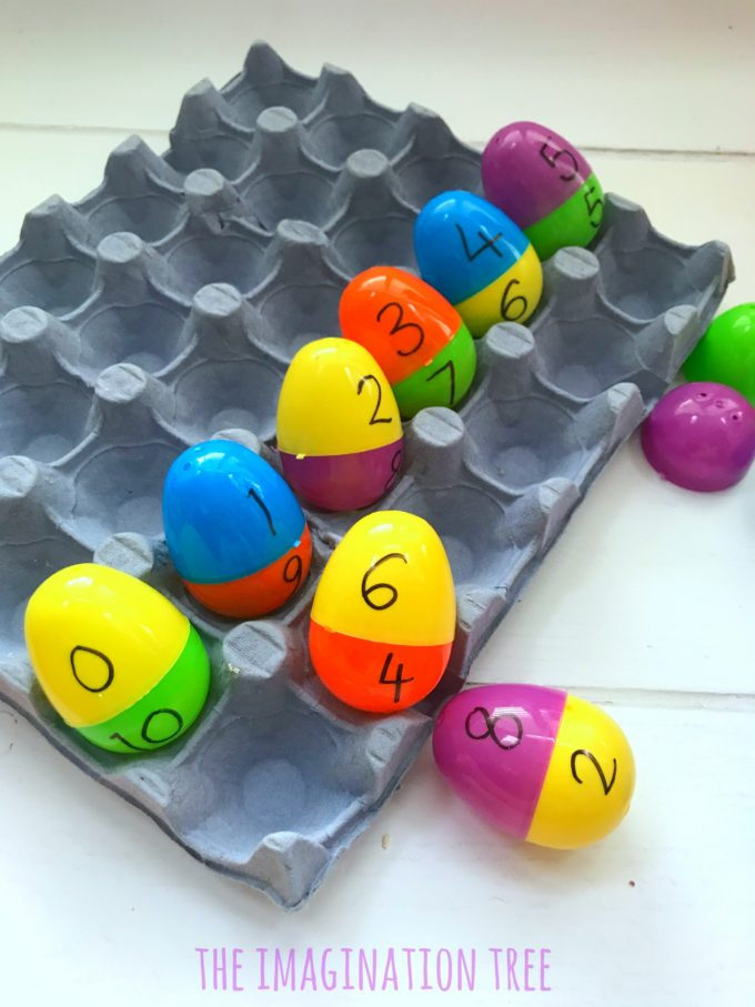 Number Bonds to 10 Egg Game