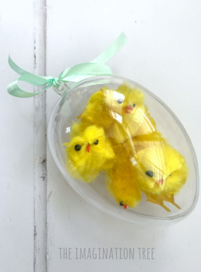 Easter Sensory Eggs with Chicks