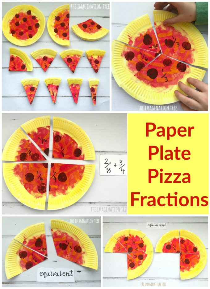 DIY Paper Plate Pizza Fractions for Kids!