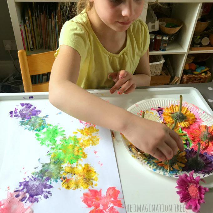 Printing With Fresh Flowers