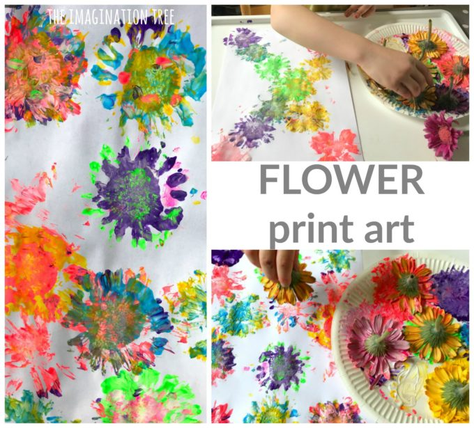 Flower Print Art for Kids!