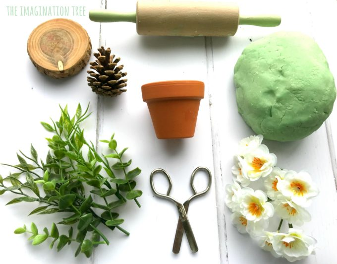 Invitation to Play with Eucalyptus Play Dough