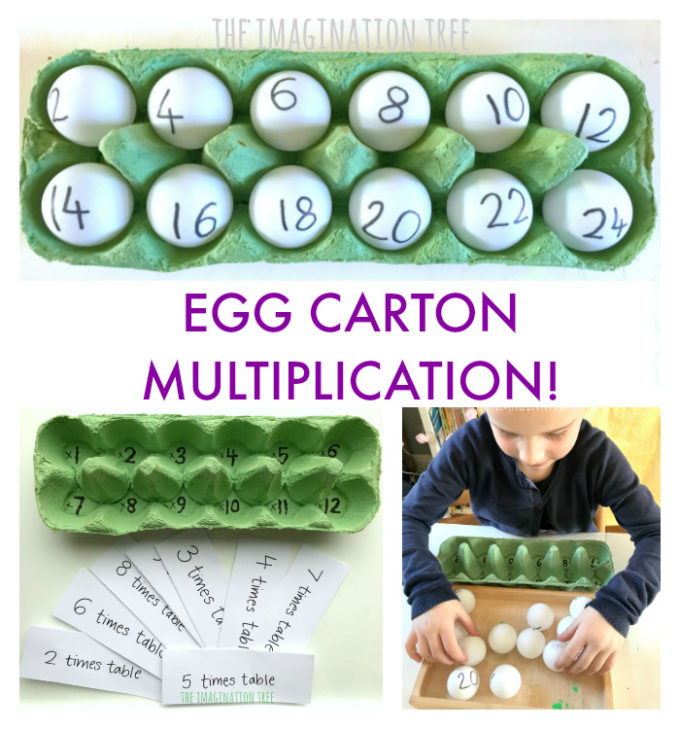 Egg Carton Multiplication Game