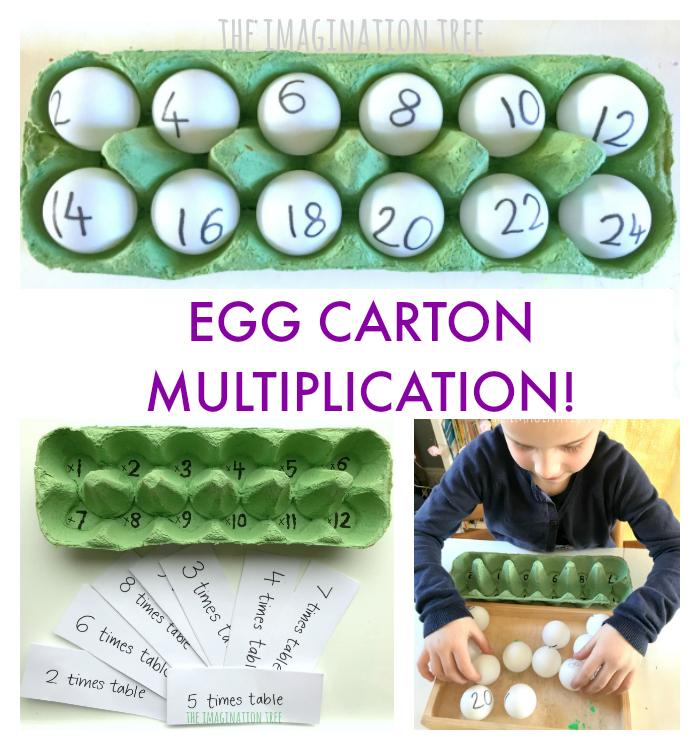 Egg Carton Multiplication Game The Imagination Tree