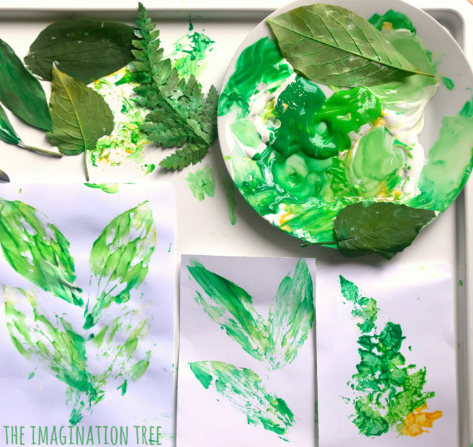 Beautiful Leaf Printing Art