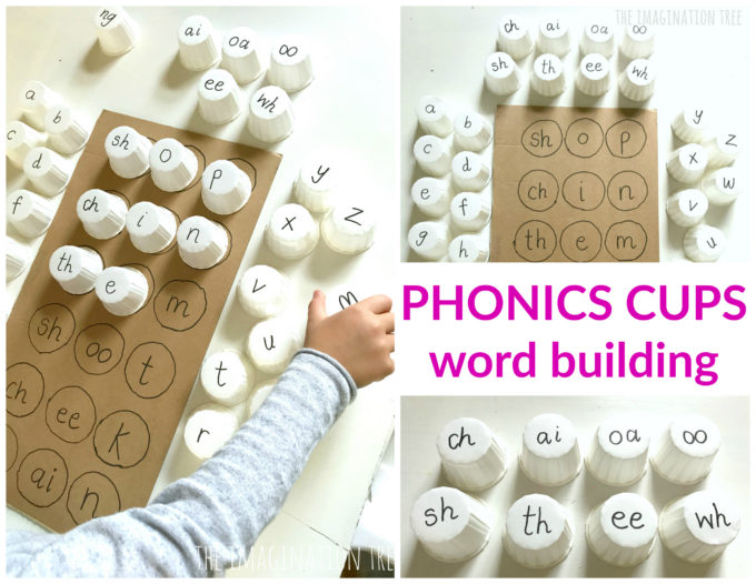 Phonics Cups Literacy Game