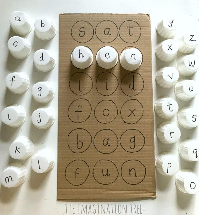 Phonics Cups Literacy Game