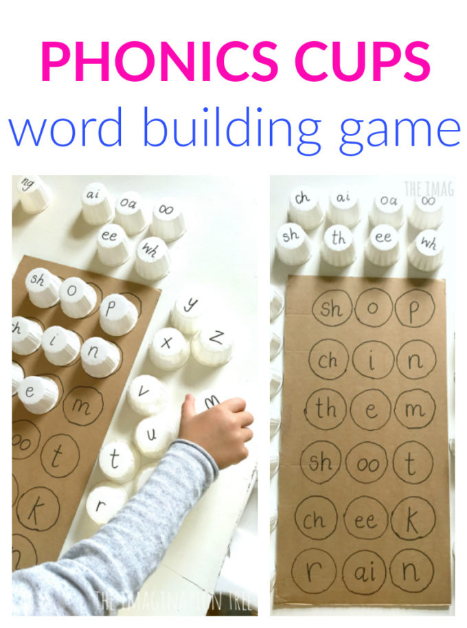 Phonics Cups Literacy Game for Kids!