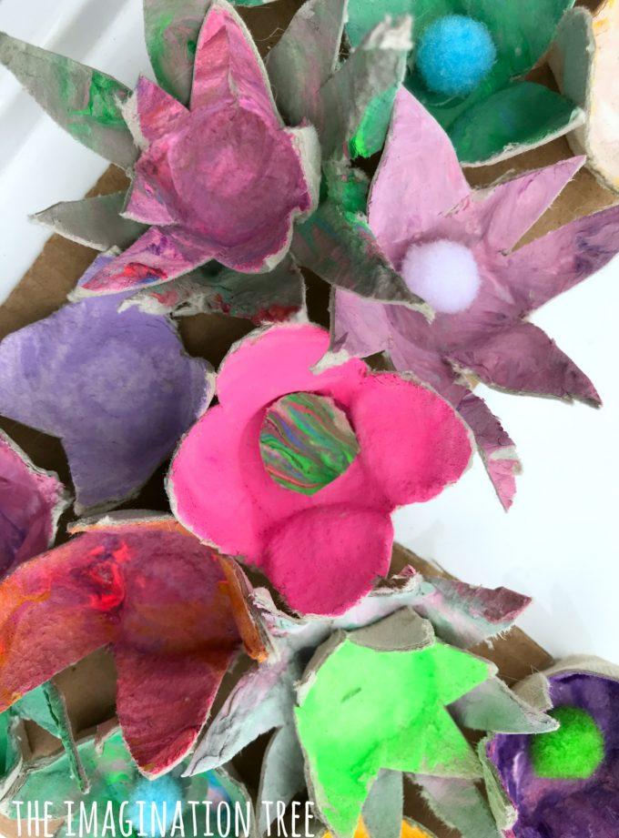 Let's make egg carton flowers!