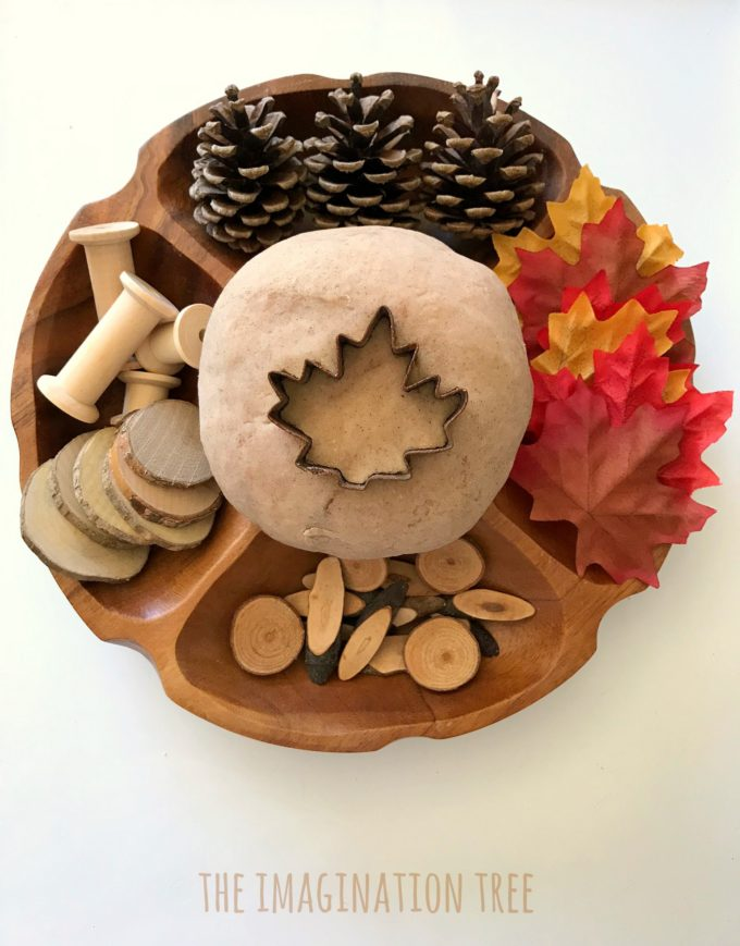 Maple Syrup Play Dough Recipe and Loose parts