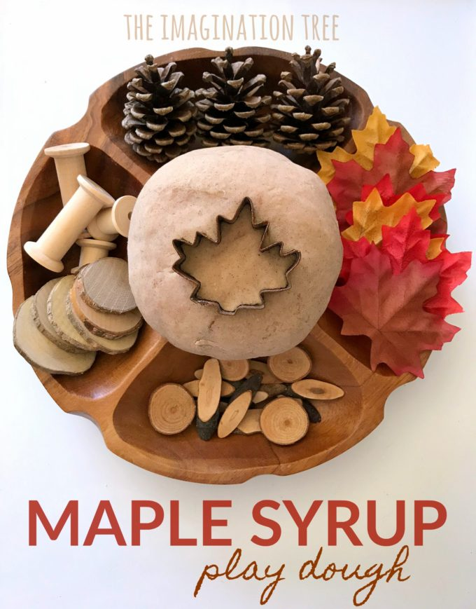Natural Maple Syrup Play Dough Recipe- smells awesome!!