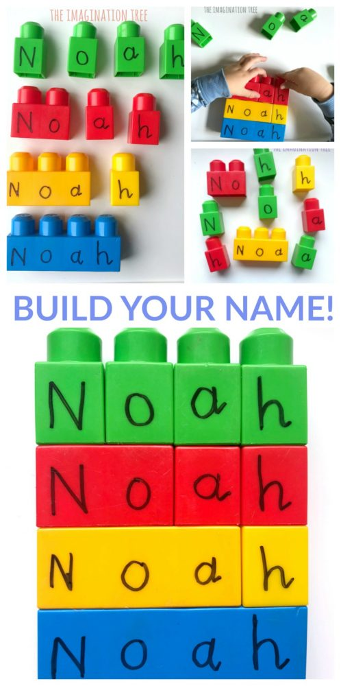 Building Blocks Name Game for Preschoolers