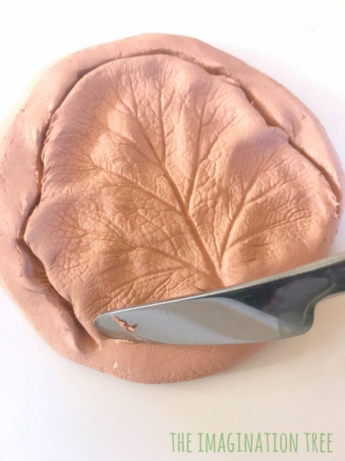 Clay leaf print
