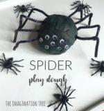 Spider Play Dough Activity Tray