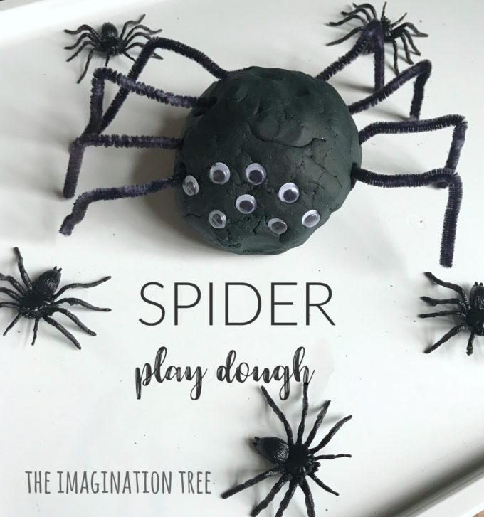 Spider Play Dough Activity Tray
